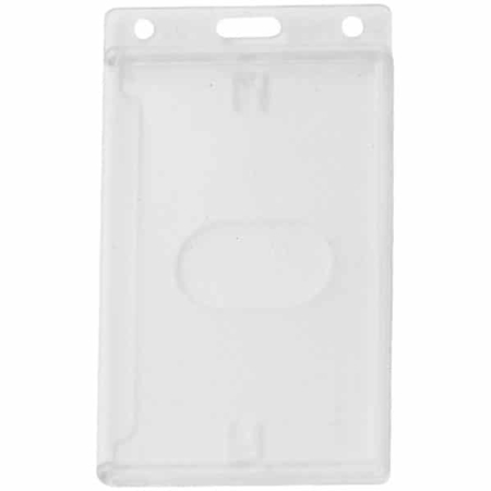 Horizontal Rigid Single Card Holder Frosted With Thumb